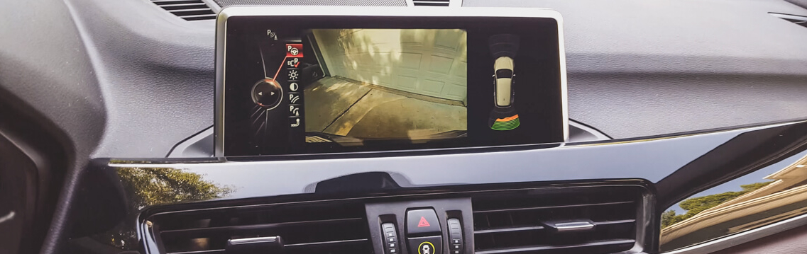 OEM Rear View Camera Installation in BMW X1 at Mod Squad Motorsports