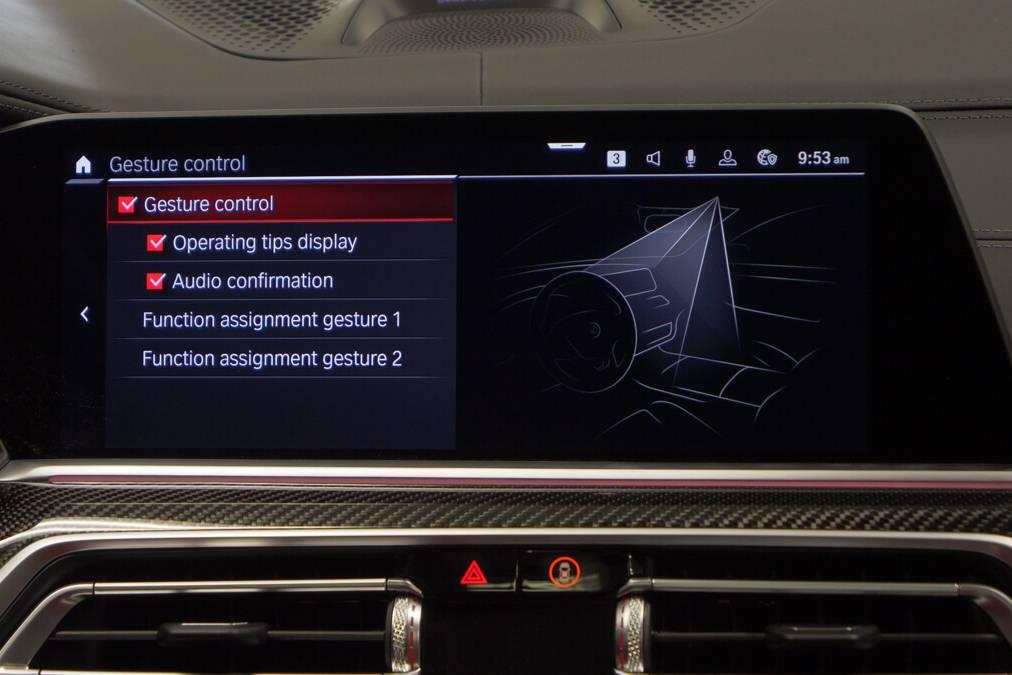 Gesture control activation in BMW