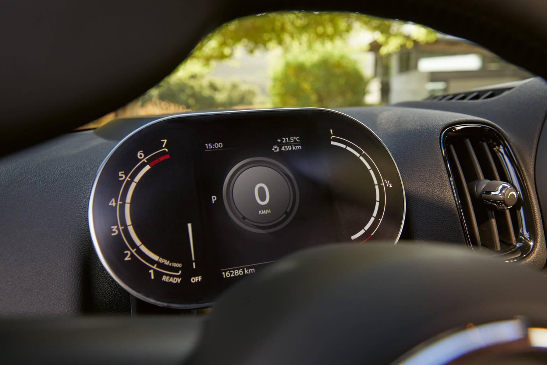 MINI Cooper digital speedometer features