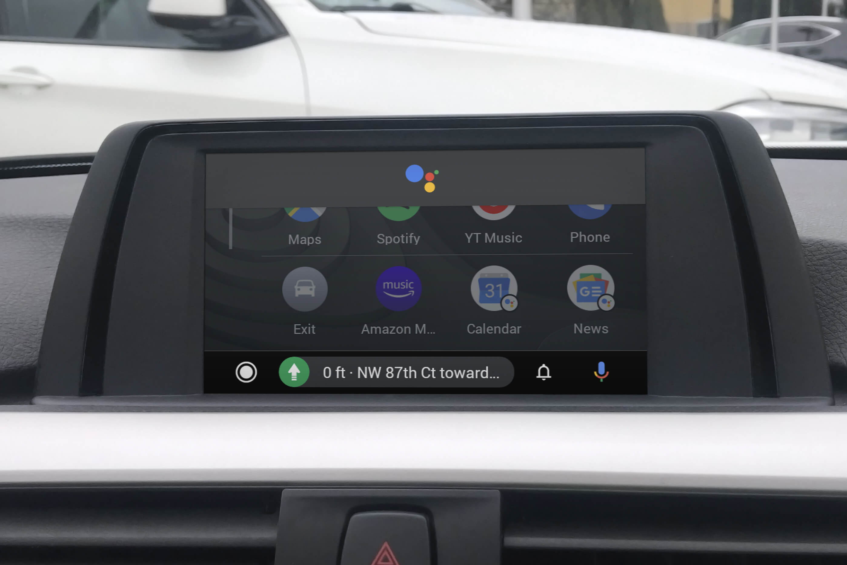 BMW Android Auto MMI Prime small screen Google assistant