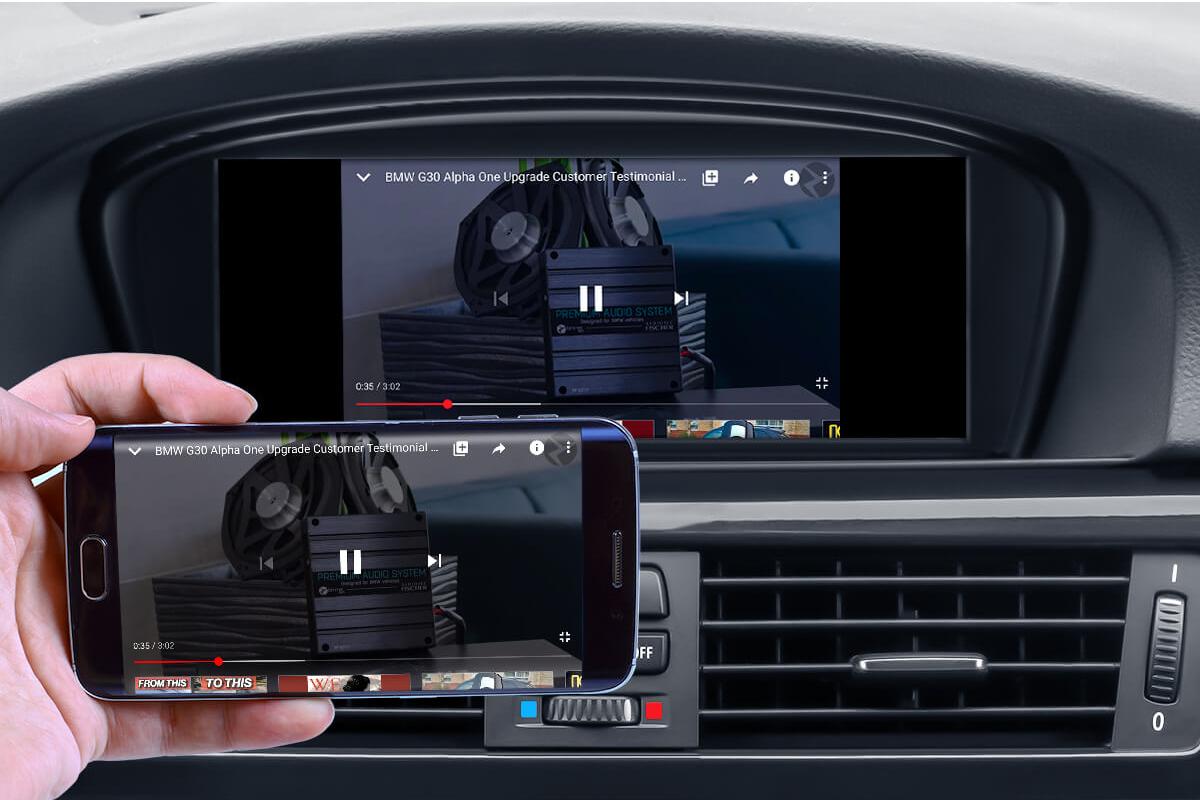 BMW screen mirroring
