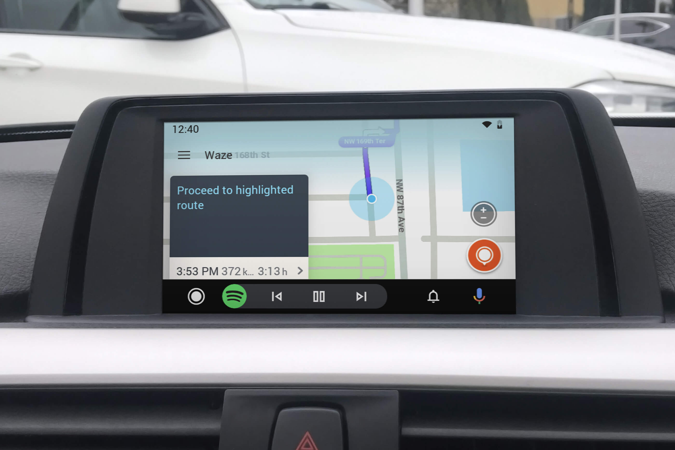 BMW Android Auto MMI Prime small screen waze