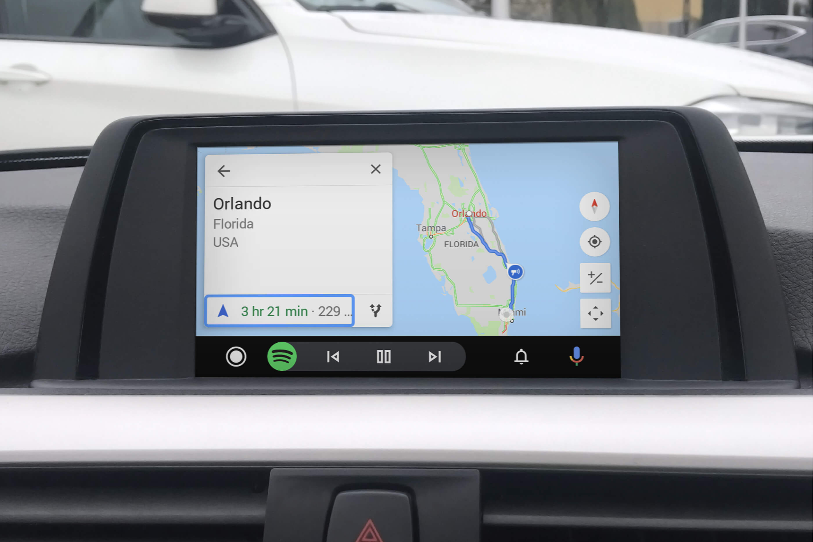 BMW Android Auto MMI Prime small screen google maps