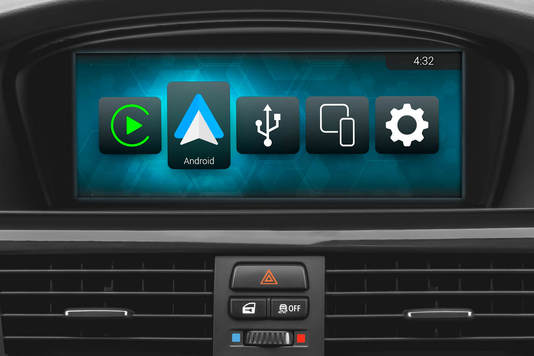 Full-screen Android Auto mode on all BMW display sizes
