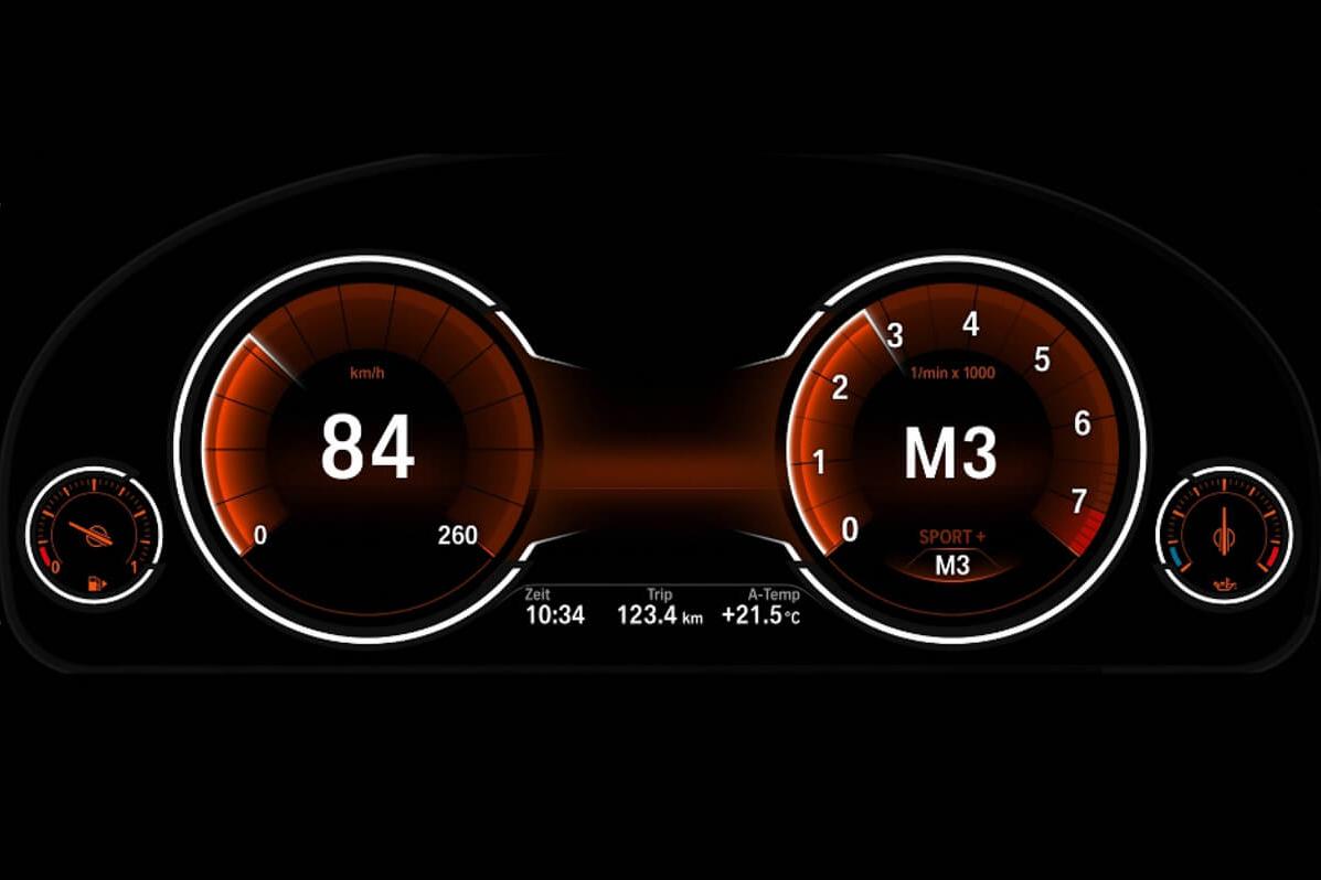 BMW 6wb digital instrument cluster