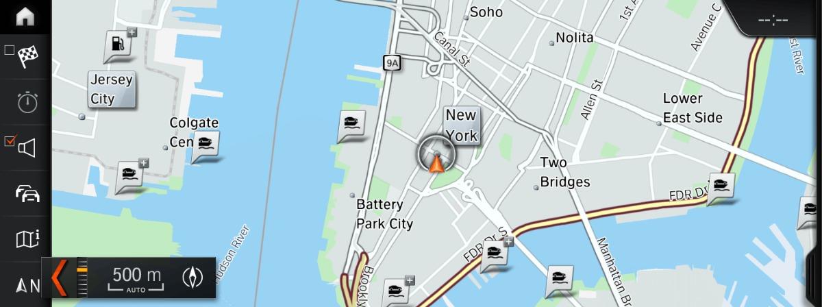 BMW iDrive map view