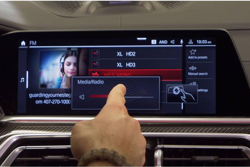 BMW gesture control technology