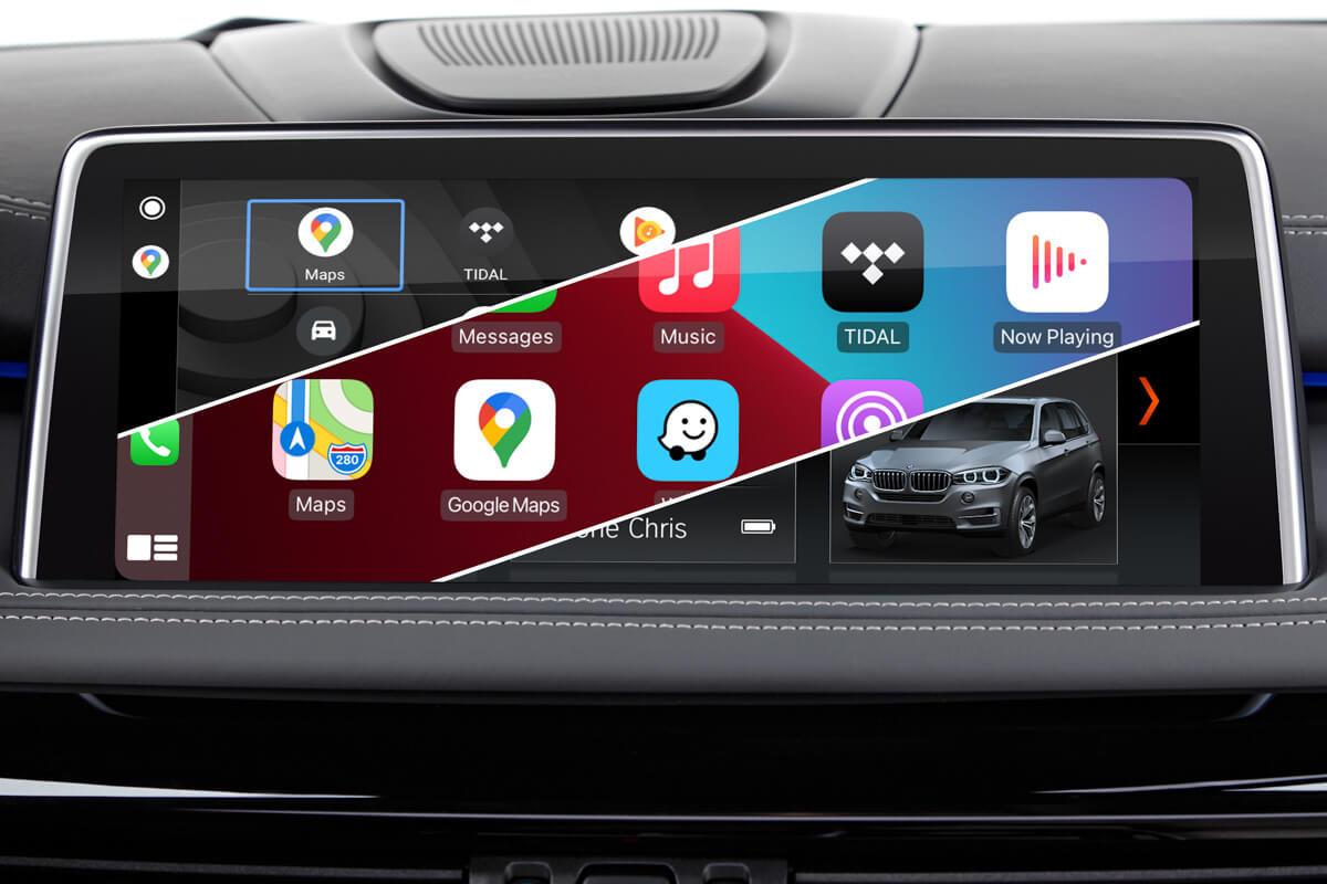 native BMW iDrive system vs. Carplay vs. BMW Android Auto