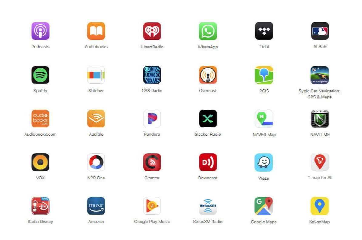 CarPlay MMI Prime apps